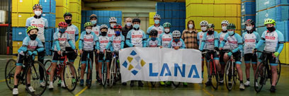 LANA patrocina al grupo ciclista Lokatza de Bergara